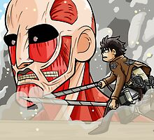 Eren VS Titan by scribblekisses