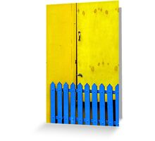 Blue Gate Yellow Door Greeting Card