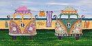 Kombi Camp no. 2 by Lisa Frances Judd ~ QuirkyHappyArt