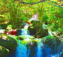 """Canyon Falls"" by Carter L. Shepard by echoesofheaven"