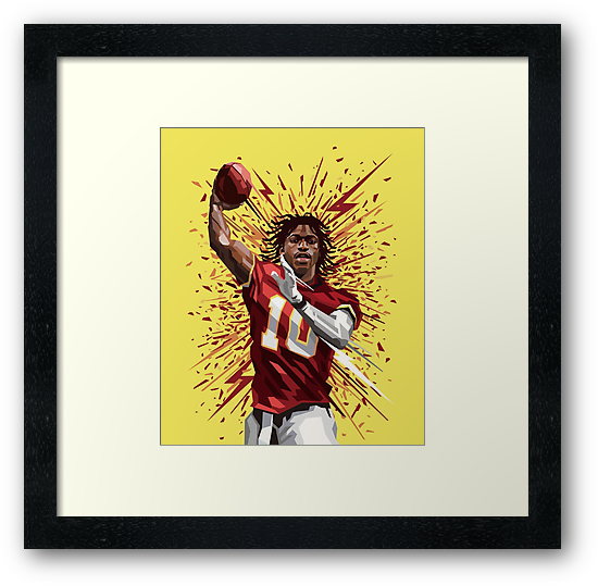 The Washington Redskins Griffin III Artistic Poster  by NFLFanMerch