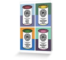 Dharma Initiative Soup Cans Greeting Card