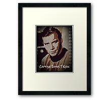 Captain James T Kirk Star Trek Framed Print