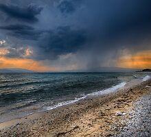 Stormy beach by Dobromir Dobrinov