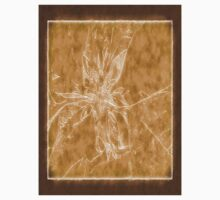 Pale Yellow Poinsettia 1 Outlined Brown Kids Clothes