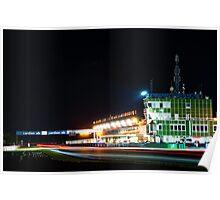 Nighttime racing in Brno Poster