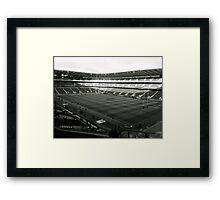 Twickenham. Black and White. Framed Print