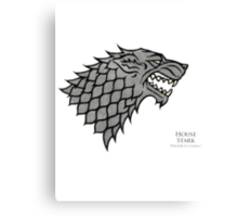 Game of Thrones - House Stark  Canvas Print