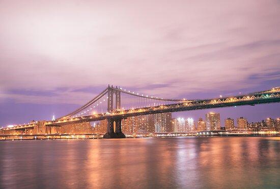 New York City - The Manhattan Bridge by Vivienne Gucwa