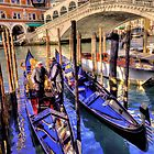 Boats at Rialto by FLYINGSCOTSMAN