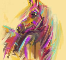 Horse True colours by Go van Kampen