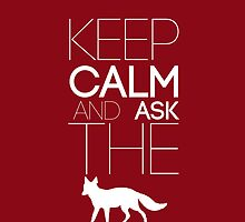 Keep Calm and ask the Fox by kinematic