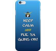 Keep Calm and Put Ya Guns On! iPhone Case/Skin