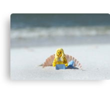 Mermaid - Day at the Beach Canvas Print