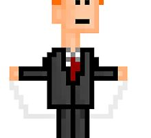 8-bit Conan O'Brien String Dance by wizardvictor