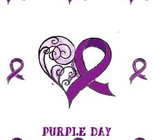 CHARITY FUNDRAISER - IPAD CASE PURPLE DAY FOR EPILEPSY AWARENESS  MARCH 26 2014 by Rebecca Hansen
