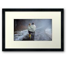 Lovers in the Mist Framed Print