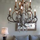 Shabby Chic Chandelier 2 by SizzleandZoom