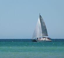 We are Sailing! Semaphore Beach, Adelaide. S.A. by Rita Blom