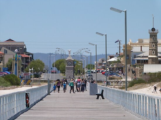 Semaphore beach & foreshore, from the Jetty. Sth. Australia. by Rita Blom
