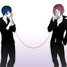 Free! - Red String by scarlet-neko