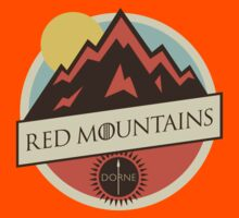 Game Of Thrones - 'Red Mountains' vintage badge by housegrafton