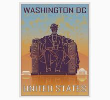 Washington DC vintage poster by paulrommer