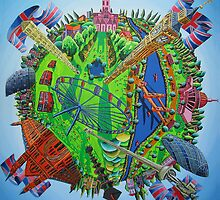 London naive painting big ben raphael perez painter uk art paintings  by raphael perez