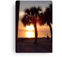 Sunset over the Gulf of Mexico, FL Canvas Print