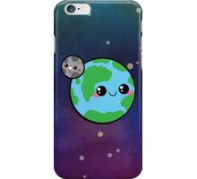 Kawaii Earth & Moon iPhone Case/Skin