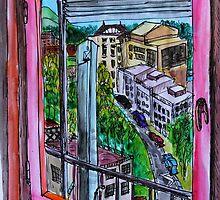 Watercolor Sketch - A View from the Office. Geneva. by Igor Pozdnyakov