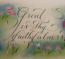 """Great is Thy Faithfulness"" by Melissa Goza"