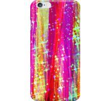WATERFALLS Abstract Acrylic Pink Purple Ocean Waves Stars Fine Art Painting iPhone Case/Skin