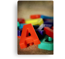 Alphabet Fun Canvas Print