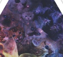 Illuminati kittens in space Sticker
