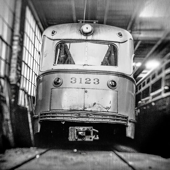 Vintage Streetcar Trolley 1219 by YoPedro