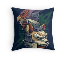 Lylat Heroes Throw Pillow