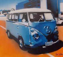 Blue Kombi by Bob Hickman