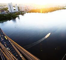 View from Moscow bridge in Kiev, Ukraine [2] by Sergey Prekrasnyy