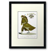 World War Two Veterans Day Greeting Card Framed Print
