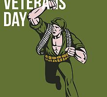 World War two Veterans Day Soldier Card by patrimonio