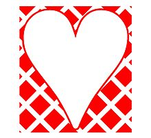 Red Crosshatch Background Heart by kwg2200
