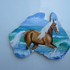 Palomino Lusitano fridge magnet by louisegreen