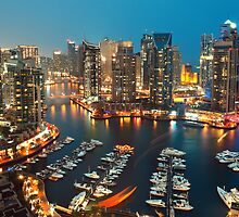 Dubai Marina night by naufalmq