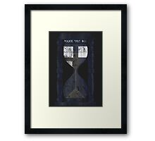 The Tardis Time Lord Timer Framed Print
