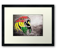 Lion Reggae Colors Cool T Shirts Prints and Stickers Framed Print