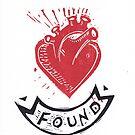 Found Love tattoo inspired valentine by craftyhag