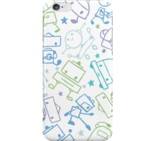 Doodle robots pattern iPhone Case/Skin