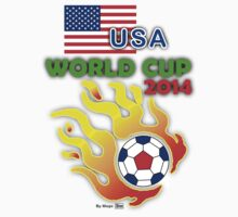 World Cup 2014 - USA Soccer Fans T-Shirt by mago
