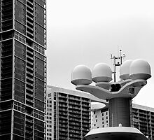 Radomes and Skyscrapers by njordphoto